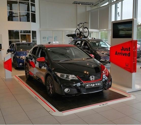 Honda dealership new display