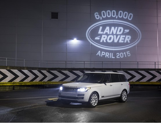 Six millionth Land Rover rolls off the line at Solihull plant