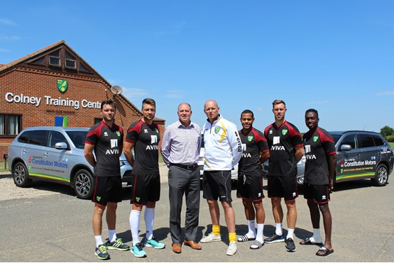 Constitution Motors is official vehicle supplier to Norwich City Football Club