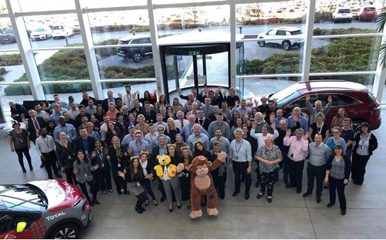 Robins & Day's 11-day 'Pass the Pudsey' visited the PSA Group's Coventry HQ