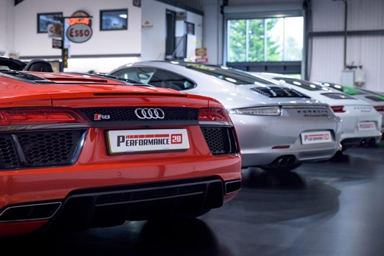 Some of the stock on show at Chester-le-Street based supercar and luxury car retailer Performance 28