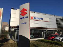 Crown Motors' new Suzuki dealership on Hyde Estate Road, Hendon