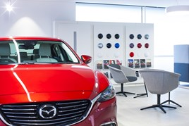 Mazda Motors UK showroom