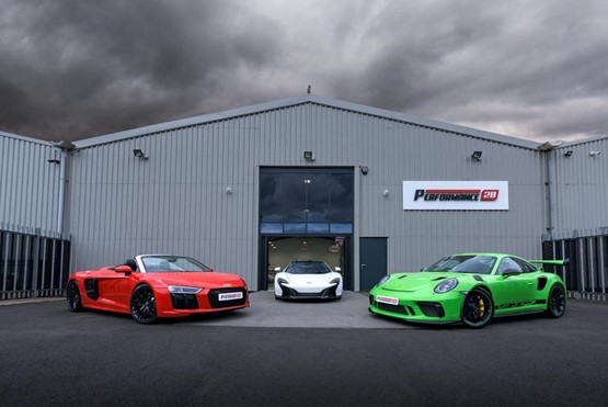 The Performance 28 supercar and luxury car showroom at Chester-le-Street