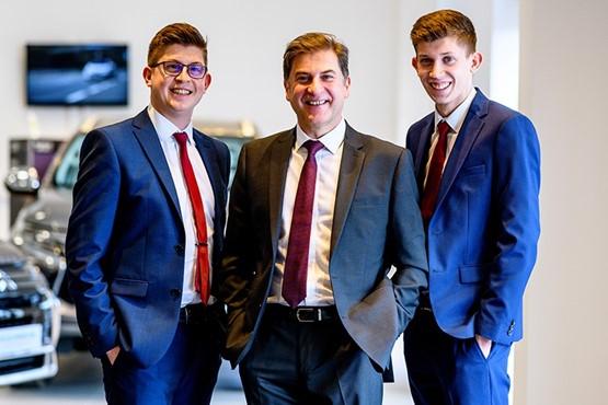A family business: Tony Denton,  centre, with sons Antony,  left, and Alex, right