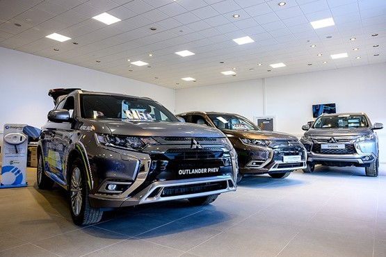 Batchelors' York Mitsubishi  showroom is situated in a former  protein shake warehouse