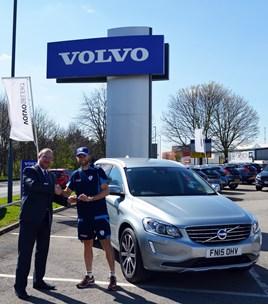 Bristol Street Motors Volvo Derby loans cricket star an XC60