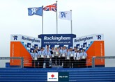 Graduates of the Suzuki GB Advanced Apprenticeship Programme at the Rockingham Motor Speedway