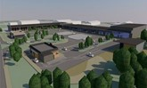 Design plans for the proposed 'Swansea East Trade Park' created by Powell Dobson Architects for Asbri Planning, on behalf of Days Property Holdings Ltd