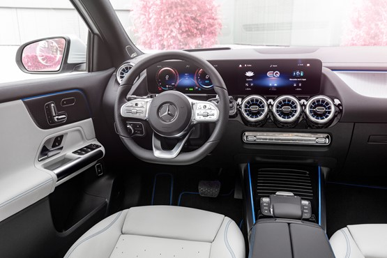 Inside the new Mercedes-Benz EQA compact SUV