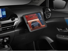 Citroen C4 iPad holder