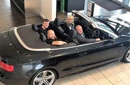 Vertu Specialist Cars' new recruits (left to right): Kieran Jordison, Owen Clinton, Shannon Hebron and Lee Cummings.