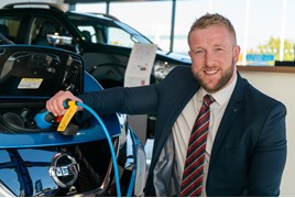 Lee Stewart, EV ambassador at Darlington Nissan