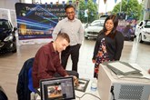 Tim Westwood signing autographs at TrustFord's Fiesta-val
