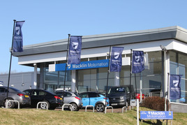 Macklin Motors' new Motornation used car and van showroom in Glasgow