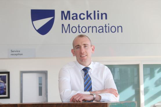 Macklin Motors' Motornation Glasgow branch manager, Ian Hunter