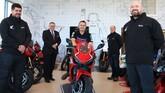 Vertu Motorcycles brand director Mark Goode (centre) with some of the Vertu Honda Bikes Stockton team