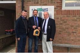 Duncan Chapman, dealer principal at Ray Chapman Motors, with Robert Harrison, chairman of Malton and Norton RUFC and John Machin, president of Malton and Norton RUFC
