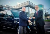 Mike Tyson, managing director of Guy Salmon Land Rover Sheffield (left), with Chris Tobin, head of estates services at Rotherham NHS Foundation Trust