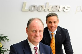 Lookers chief executive Andy Bruce, left, and operations director Nigel McMinn