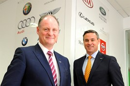 Lookers chief executive Andy Bruce, left, and chief operating officer Nigel McMinn