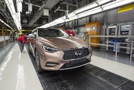Infiniti Q30 in production at Nissan's Sunderland assembly plant