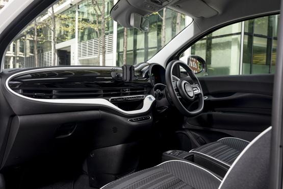 Inside the new Fiat 500e EV's cabin