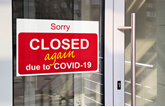 'Closed again due to COVID-19' doorsign