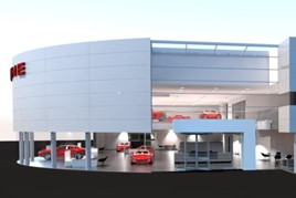 Artist's impression: Pendragon's new Stratstone Porsche Centre in Stockport
