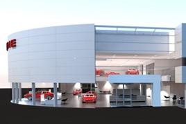Artist's impression: Pendragon's new Stratstone Porsche Centre in Stockport