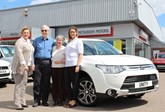 Unity Mitsubishi presents couple with Mitsubishi Outlander win