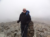 Andy Macnaughton-Jones on Scafell Pike during training for his trek up Kilimanjaro