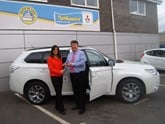 Nathaniel Cars loans Bridgend Business Forum an Outlander PHEV
