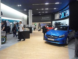 Mercedes-Benz Reading pop-up