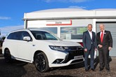 Startin Mitsubishi dealer principal Ben Winslow (left) and sales manager David Tyler