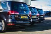 Line-up of Volkswagen Sharans