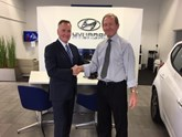 Corkills owner Adrian Kermode with TWG Hyundai founder Brian Phillips