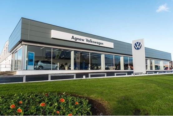 Agnew Group's Belfast Volkswagen UK dealership, the UK's first site to feature the brand's new logo