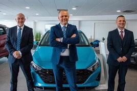 Alan Harrop, Billy Taylor and Craig Smith from Bristol Street Motors Sunderland Hyundai
