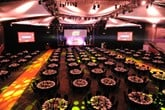 AM Awards: view of the tables and stage at the ICC  ahead of the ceremony