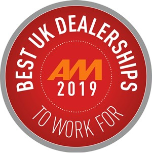 AM Best UK Dealerships To Work For 2019 logo