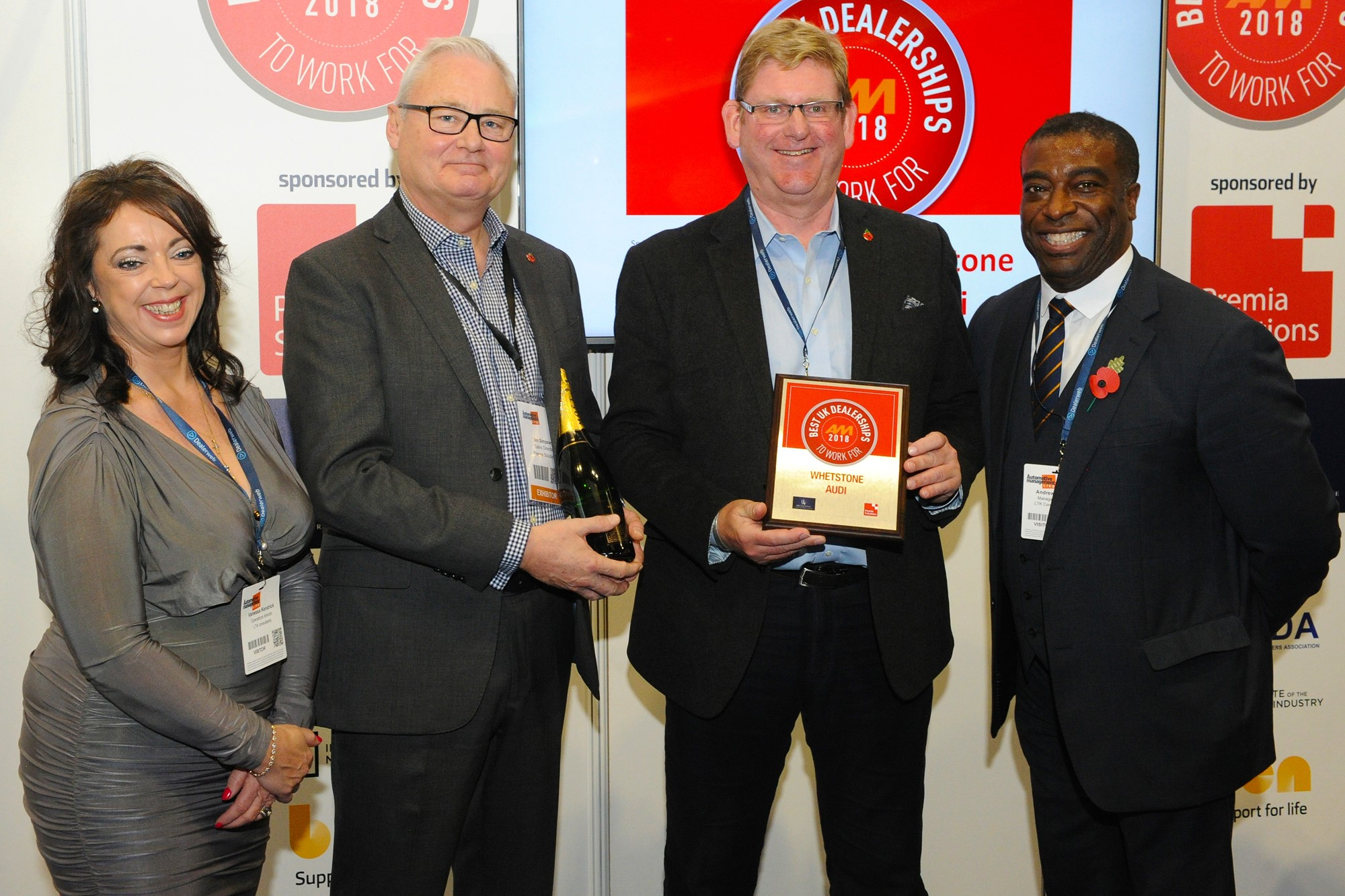 Whetstone Audi is an AM Best UK Dealership to Work For