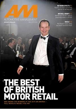 Arran Bangham, group vice-chairman,  RRG Škoda on the cover of AM magazine March 2019