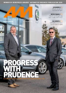 AM's December magazine cover featuring Rainworth Motor Group joint MDs Jon Atherton and Simon Beckett