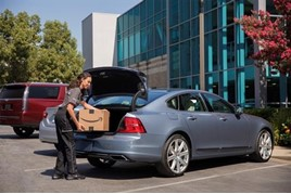 Volvo Cars is partnering with Amazon to bring in-car delivery of packages to customers in the United States.
