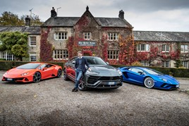 Lamborghini EMEA region chief executive, Andrea Baldi, in Yorkshire for the opening of Park's Motor Group's new Leeds showroom