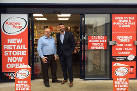 Andrew Page Woodford Green branch manager Gareth Jones and Ben Buchanan, divisional manager