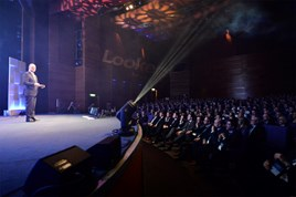 Lookers chief executive Andy Bruce at the car retailer's annual General Managers' Conference