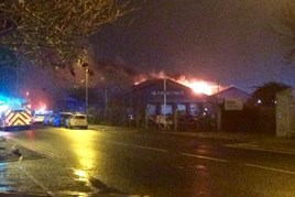 Ablaze: Arnold Clark's Aberdeen service department
