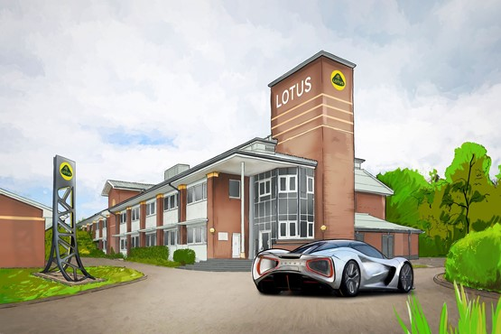 Artist's impression: Lotus Engineering's Advanced Technology Centre in Warwick